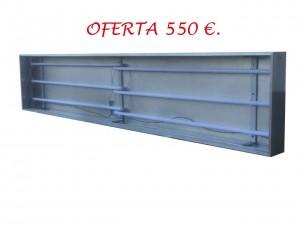 1.ROTULO LUMINOSO A UNA CARA DE TIPO PLAFON, DE 3.00 X 0.60 MTS., ILUMINADO CON TUBOS LED. PRECIO .. 550,00 € + IVA.