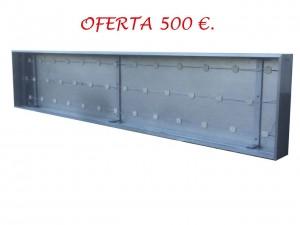 2.ROTULO LUMINOSO A UNA CARA DE TIPO PLAFON, DE 3.00 X 0.60 MTS., ILUMINADO CON MODULOS LED. PRECIO .. 500,00 € + IVA.