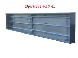 3.ROTULO LUMINOSO A UNA CARA DE TIPO PLAFON, DE 3.00 X 0.60 MTS., ILUMINADO CON TUBOS FLUORESCENTES. PRECIO .. 450,00 € + IVA.