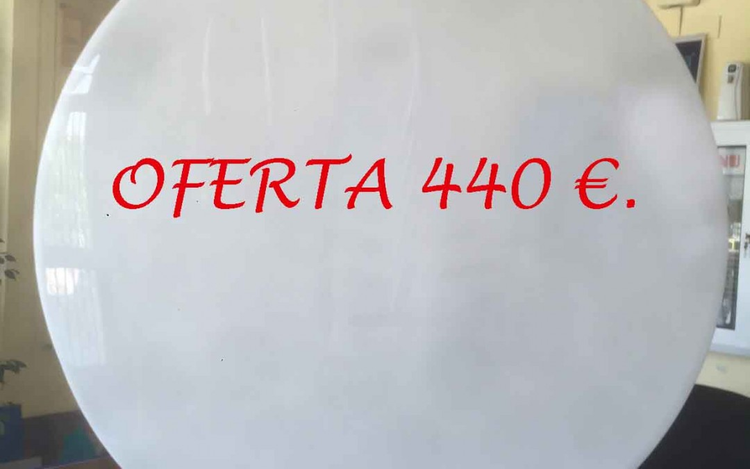 Oferta de rótulo luminoso a 2 caras 100×100